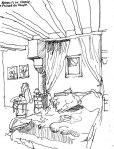 Bedroom, France sketch