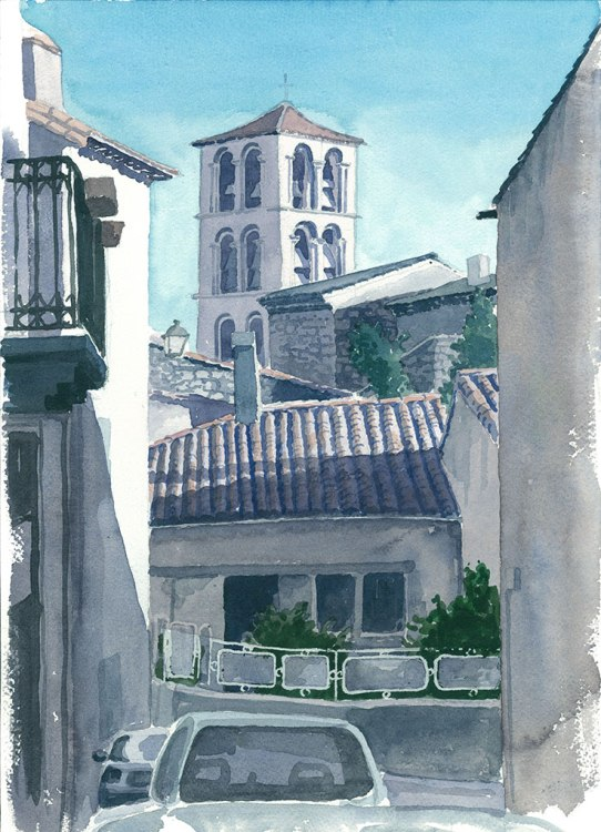 Caunes Abbey Landscape