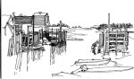Peggy's Cove, Nova-Scotia sketch