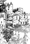 Puy-D'Eveque, France sketch